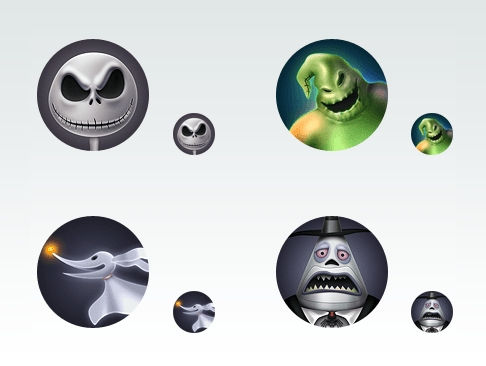 Nightmare Before Christmas Icons.Icon Set Preview The Nightmare Before Christmas