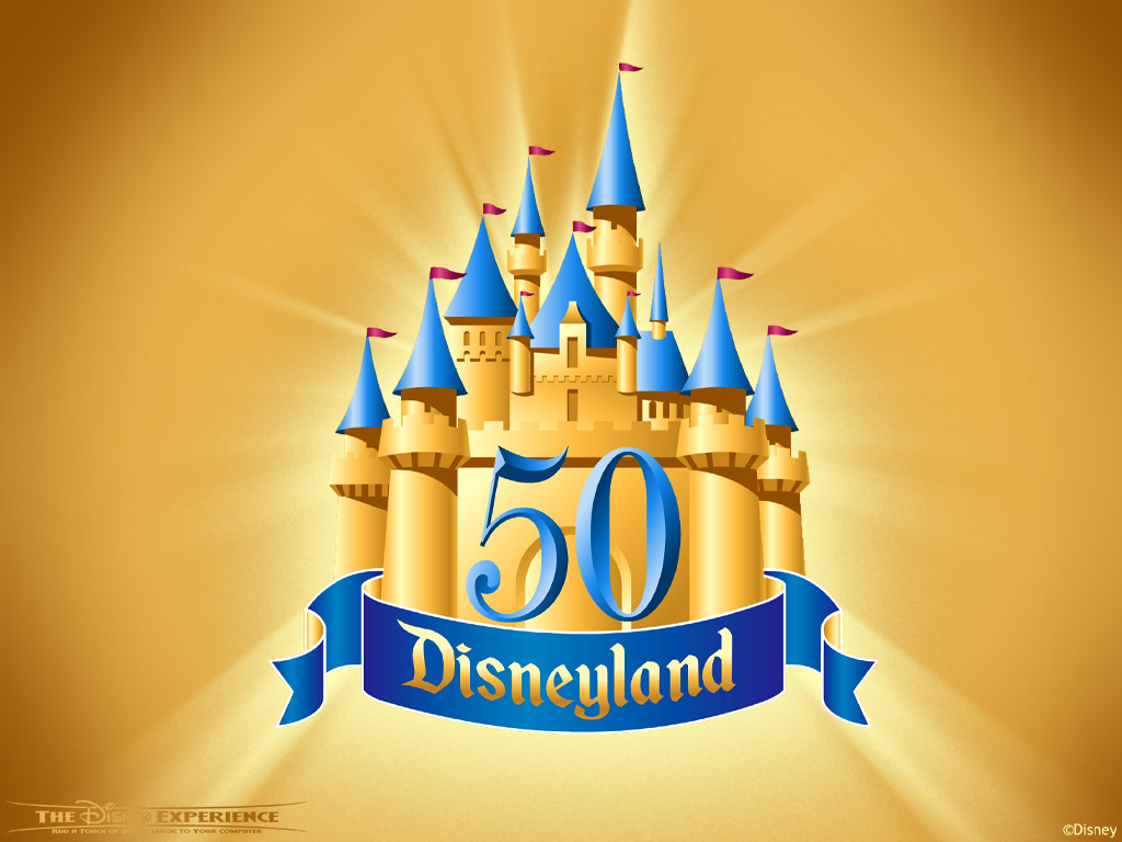 Gold Disneyland 50th Logo