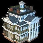 Haunted Mansion Paper Model