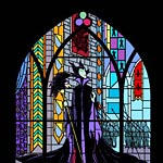 Maleficent Stained Glass Window