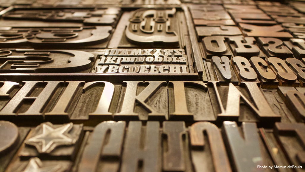 Lettering Stock Image