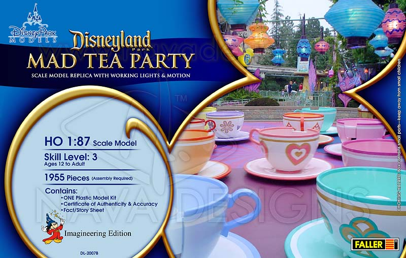 Disneyland Mad Tea Party Model Mock-up