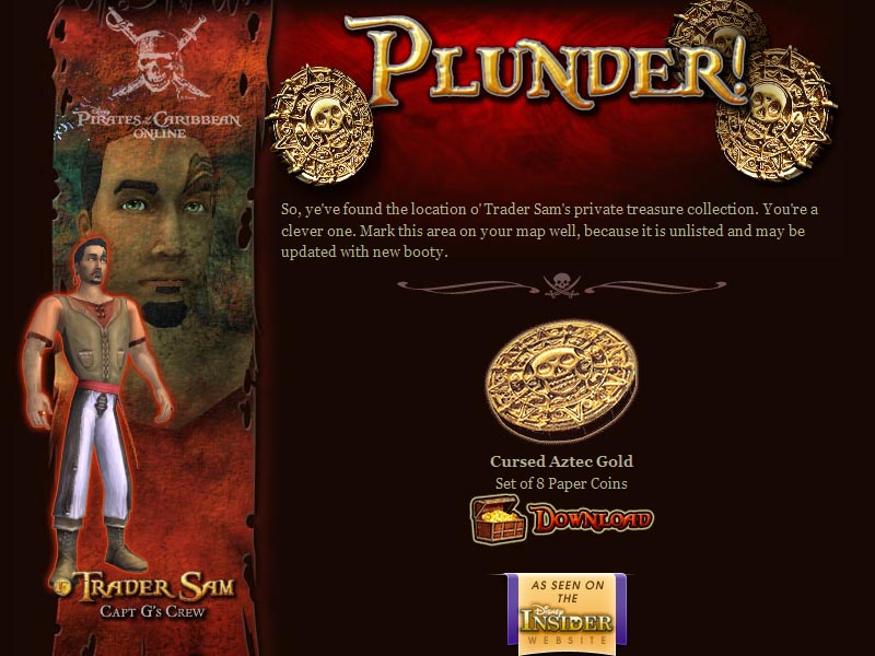 """Plunder"" Web Page"