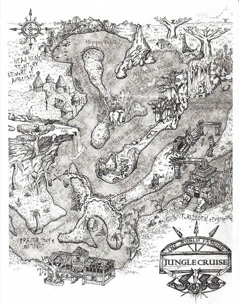 Jungle Cruise Map