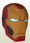 Iron Man Mark 46 Helmet Paper Model