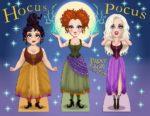 """""""Hocus Pocus"""" Paper Doll Set"""