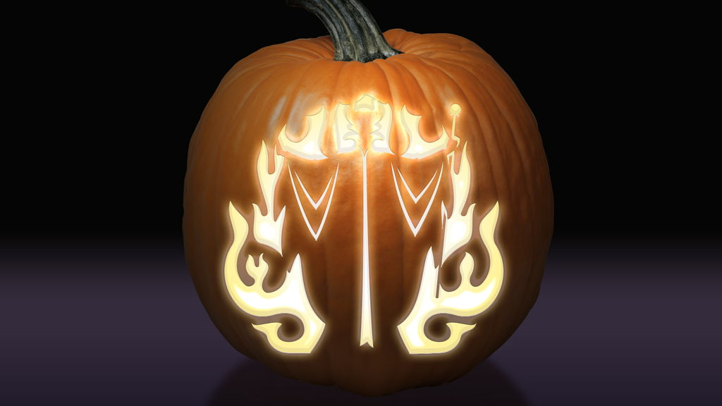 Maleficent Pumpkin Pattern